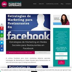 Estrategias de marketing en redes sociales para restaurantes en Facebook