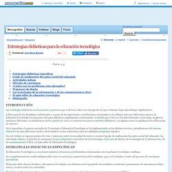 Estrategias didácticas para la educación tecnológica - Monografias.com