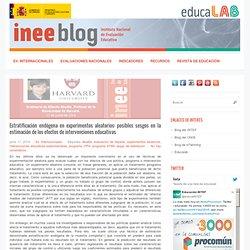 Estratificación endógena en experimentos aleatorios: posibles sesgos en la estimación de los efectos de intervenciones educativas