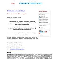 Revista mexicana de cardiología - Prevalencia de eventos cardiacos duros en pacientes estratificados con ecocardiograma de estrés con dobutamina