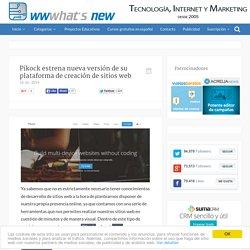 Pikock estrena nueva versión de su plataforma de creación de sitios web