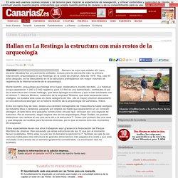 Hallan en La Restinga la estructura con más restos de la arqueología