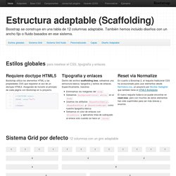 Estructura escalable · Twitter Bootstrap