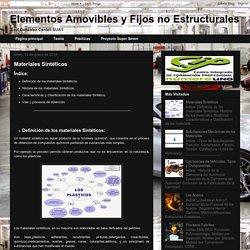 Elementos Amovibles y Fijos no Estructurales: Materiales Sintéticos