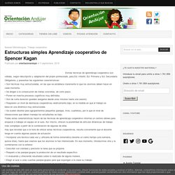 Estructuras simples Aprendizaje cooperativo de Spencer Kagan -Orientacion Andujar