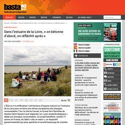 Dans l'estuaire de la Loire, « on bétonne d'abord, on réfléchit après