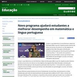 Novo programa ajudará estudantes a melhorar desempenho em matemática e língua portuguesa