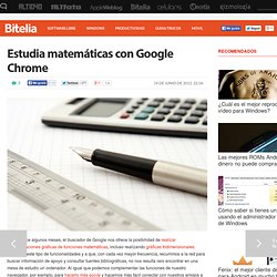 Estudia matemáticas con Google Chrome