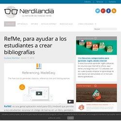 RefMe, para ayudar a los estudiantes a crear bibliografías