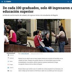 Estudiantes colombianos que ingresan a la educación superior - Archivo Digital de Noticias de Colombia y el Mundo desde 1.990 - eltiempo.com