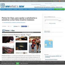 Photos for Class, para ayudar a estudiantes a encontrar y citar fotos Creative Commons