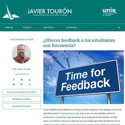 ¿Ofreces feedback a tus estudiantes con frecuencia?