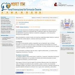 MOFET ITEC - Emociones de estudiantes y profesores en la sala de clases