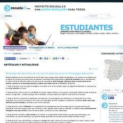 Decálogo de derechos de los/as estudiantes ante la Tecnología educativa