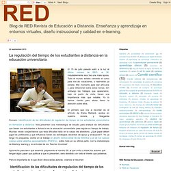 Blog de RED Revista de Educación a Distancia: La regulación del tiempo de los estudiantes a distancia en la educación universitaria