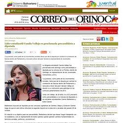 Líder estudiantil Camila Vallejo es proclamada precandidata a diputada