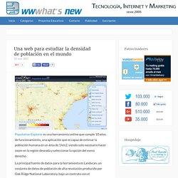 Una web para estudiar la densidad de población en el mundo