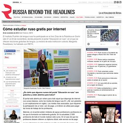 Cómo estudiar ruso gratis por internet