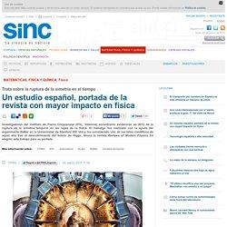 Un estudio español, portada de la revista con mayor impacto en física