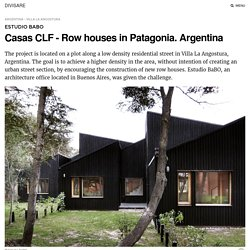 Estudio BaBO · Casas CLF - Row houses in Patagonia. Argentina