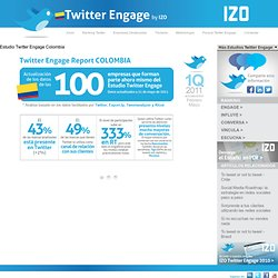 Estudio Twitter Engage Colombia - Twitter Engage Colombia by IZO