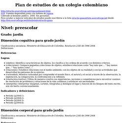 Plan de estudios de un colegio colombiano