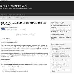 GUIA PARA ESTUDIOS DE MECANICA DE SUELOS