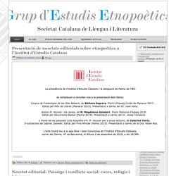 Grup d'Estudis Etnopoètics – Altre lloc Blogs IEC llocs web