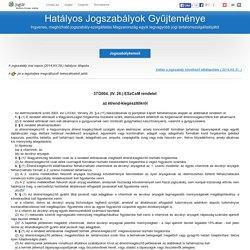 37/2004. (IV. 26.) ESzCsM rendelet - az étrend-kiegészítőkről