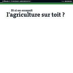 Et si on essayait l'agriculture sur toit?