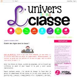 Gestion de la classe (1ère partie)