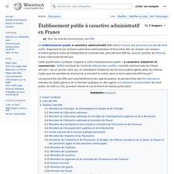 Établissement public à caractère administratif en France