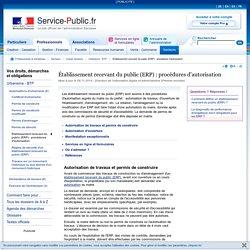 Établissement recevant du public (ERP): procédures d'autorisation