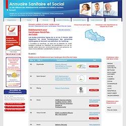 Etablissement pour handicapes Nord-Pas-de-Calais
