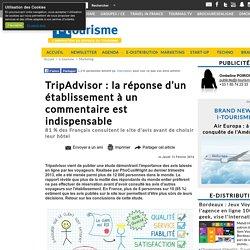 TripAdvisor : la réponse d'un établissement à un commentaire est indispensable