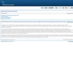 E-002444/2011 Retard au niveau de l'établissement des profils nutritionnels en vertu du règlement concernant les allégations nut