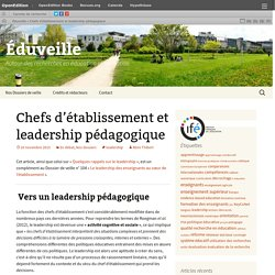 Chefs d'établissement et leadership pédagogique