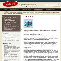 Mener un projet BYOD en établissement scolaire : éléments pratiques