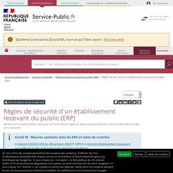 Règles de sécurité d'un établissement recevant du public (ERP)