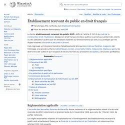 Établissement recevant du public en droit français