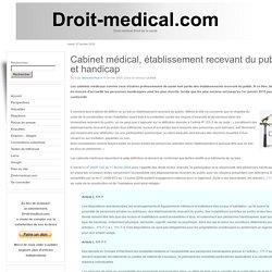Cabinet médical, établissement recevant du public et handicap
