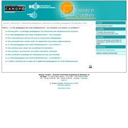 Partie 2 : Le rôle pédagogique des chefs d'établissement : une nécessité, une solution, un problème ? - Réseau Canopé – Direction territoriale académies de Besançon et de Dijon