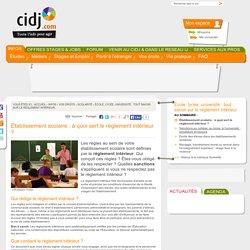 Établissement scolaire: à quoi sert le règlement intérieur ? - École, lycée, université : tout savoir sur le règlement intérieur