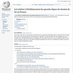 Loi relative à l'établissement des grandes lignes de chemin de fer en France