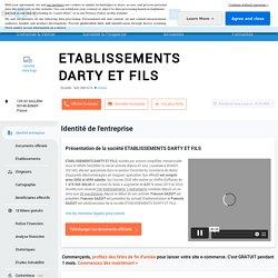 ETABLISSEMENTS DARTY ET FILS (BONDY) Chiffre d'affaires, résultat, bilans sur SOCIETE.COM - 542086616