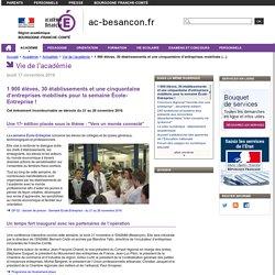 1 900 élèves, 30 établissements et une cinquantaine d'entreprises mobilisés pour la semaine École-Entreprise !