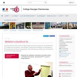 Collège Clémenceau Szac - Médiation culturelle en 6e