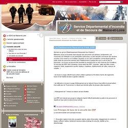 Les Etablissements Recevant du Public (ERP) - Conseils sécurité - Service Départemental d'Incendie et de Secours de Maine-et-Loire