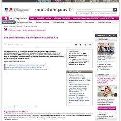 ERS - Les établissements de réinsertion scolaire