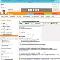 Les établissements recevant du public (ERP) - AFE, Agence France Entrepreneur